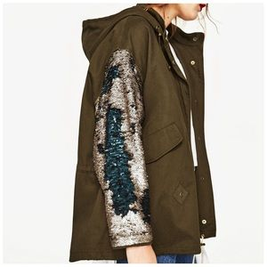 Khaki Sequin Jacket